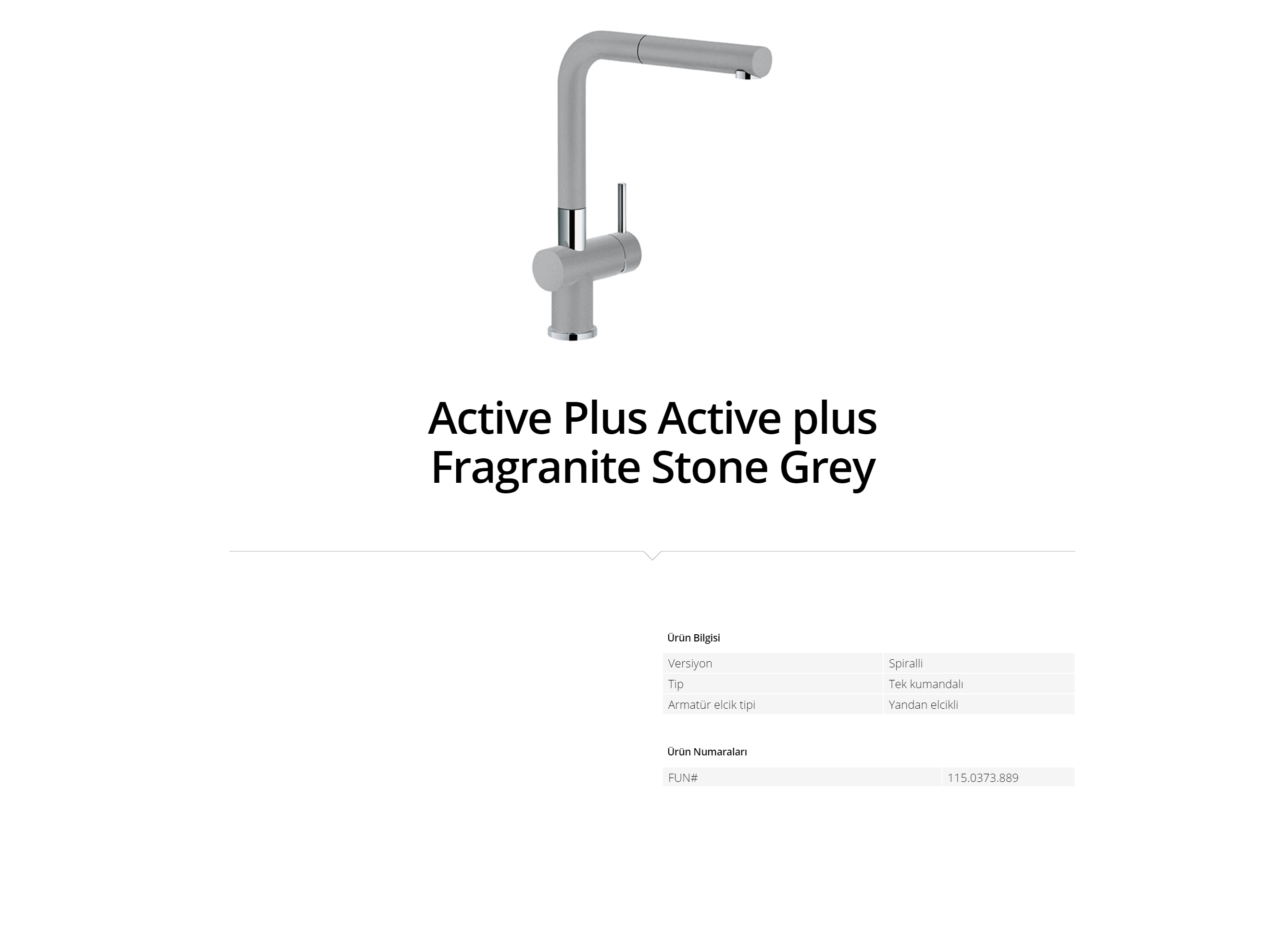 Active plus Fragranite Stone Grey