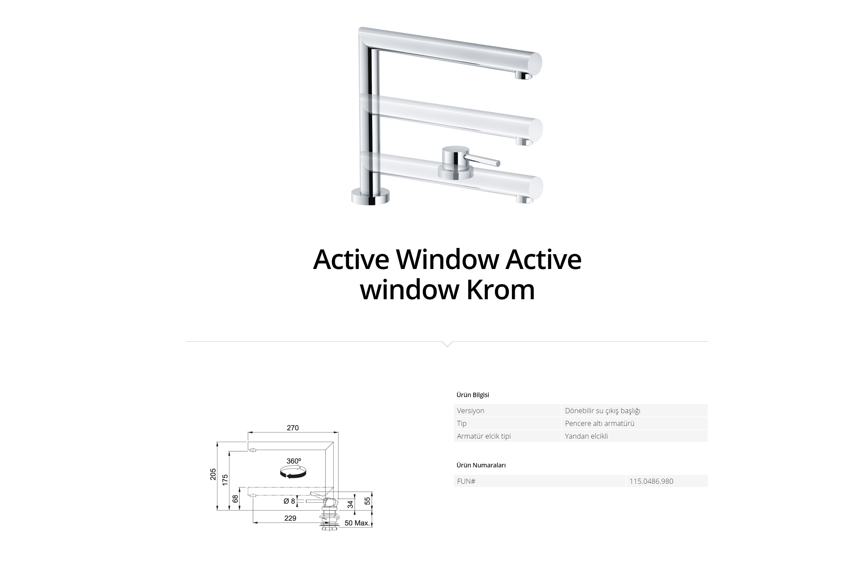 Franke Active window Krom