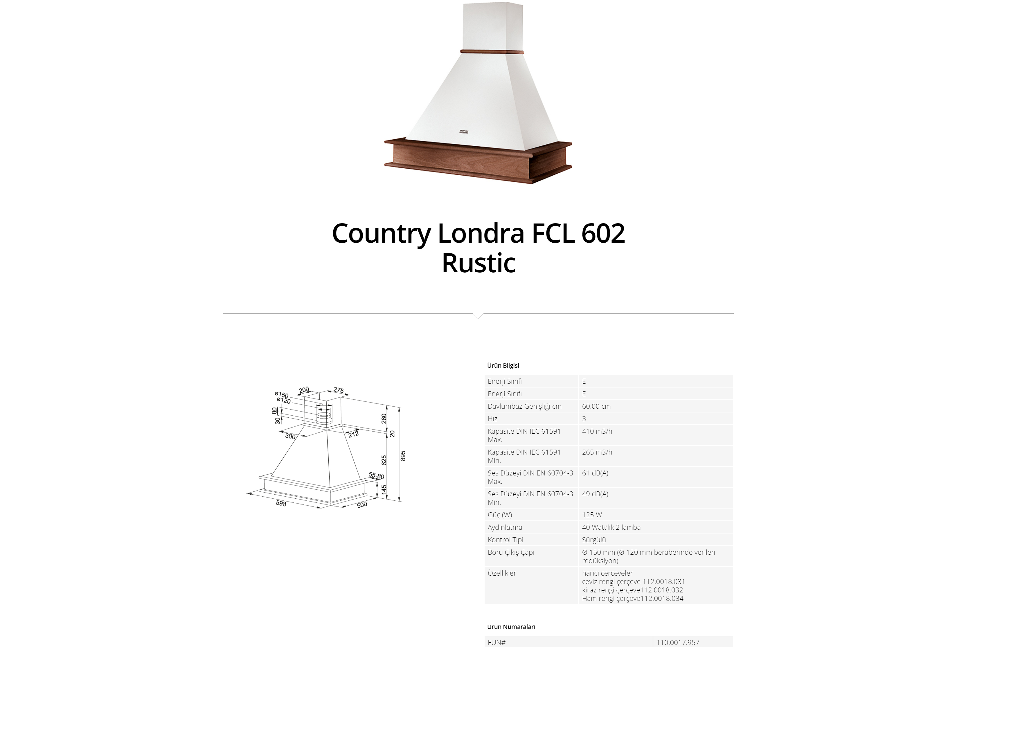 Franke Country Londra FCL 602 Rustic