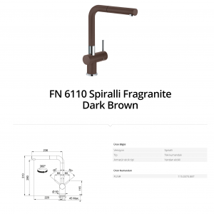 Franke FN 6110 Spiralli Fragranite Dark Brown