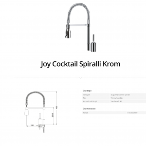 Franke Joy Cocktail Spiralli Krom