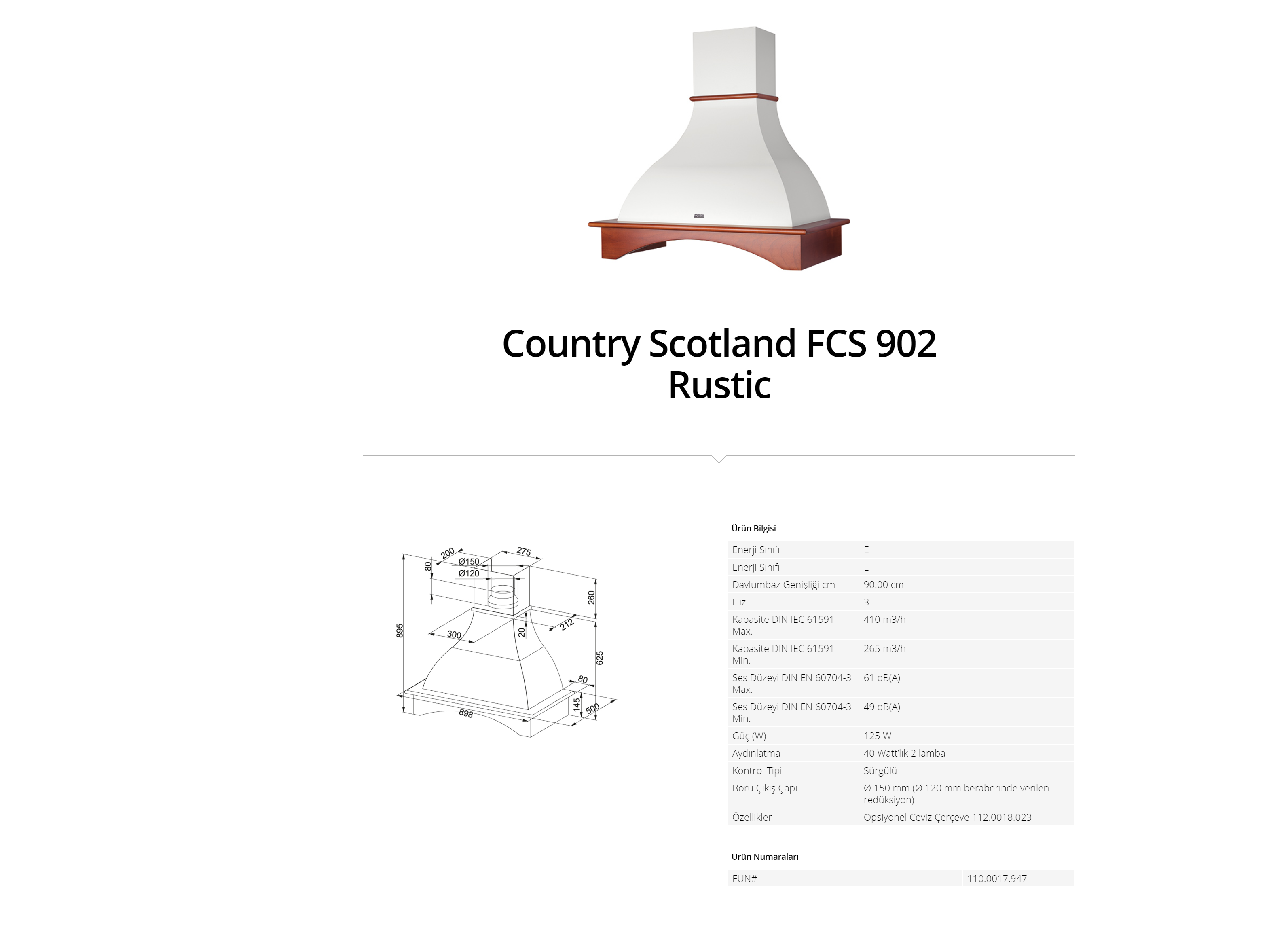 Franke Country Scotland FCS 902 Rustic